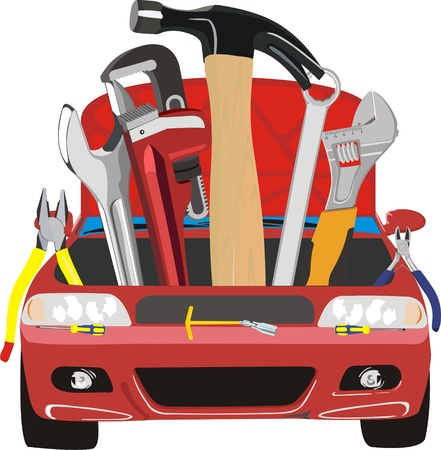 car fix Stock Vector - 10940866