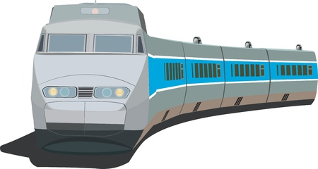 cisterna: Tren de pasajeros rápido Vectores