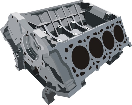 motor transport: cylinder block