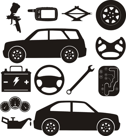 dashboard car: Car service Illustration