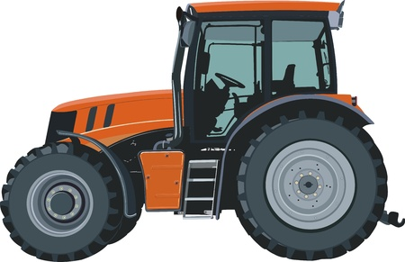agricultural machinery: Tractor Illustration