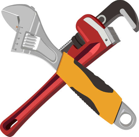 Adjustable wrenches Illustration