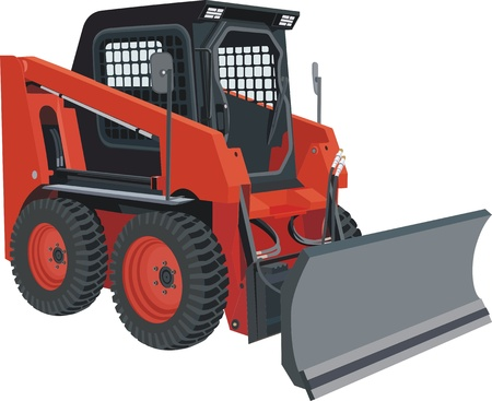 skid loader: skid steer Illustration