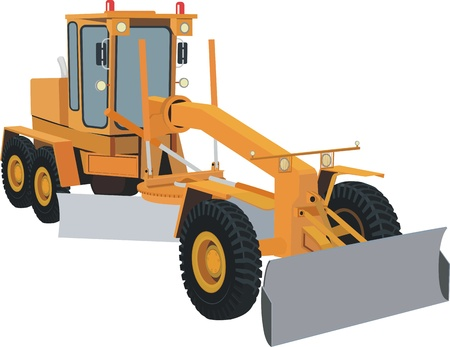 snow plow: Grader