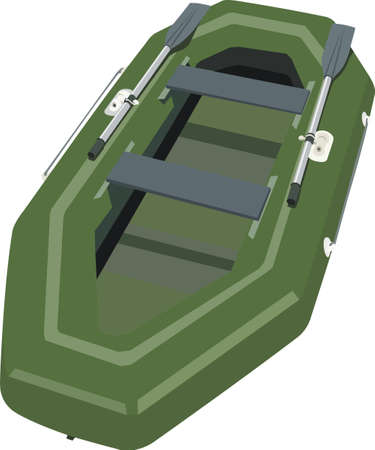 outdoor pursuit: Inflatable boat