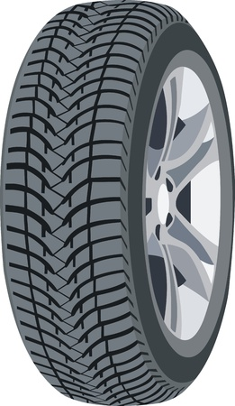 tire shop: Wheel Illustration
