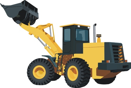 wheel loader: Excavator Illustration