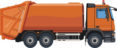Urban garbage truck Vector