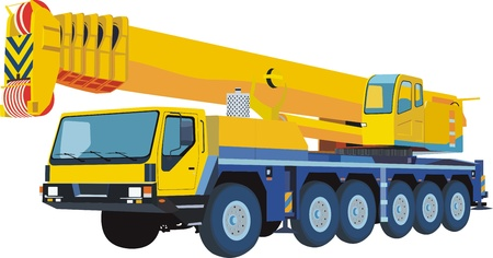 mobile crane: yellow mobile crane
