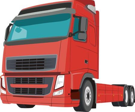 truck driver: Trailer Illustration
