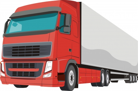 Red cargo car