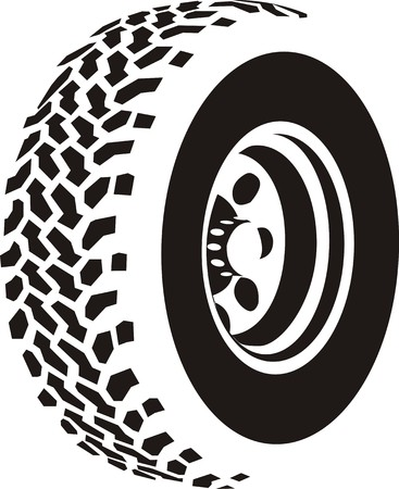Abstract tire Illustration