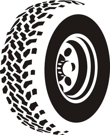 felgen: Abstrakt Reifen Illustration