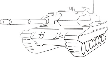 Abstract army tank