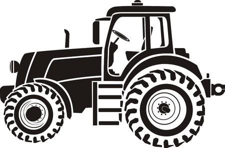 Ciągnik Ilustracje wektorowe