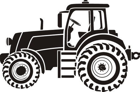 agriculture machinery: Tractor Illustration