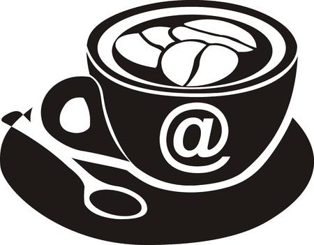 cafe internet: Internet muestra del caf�