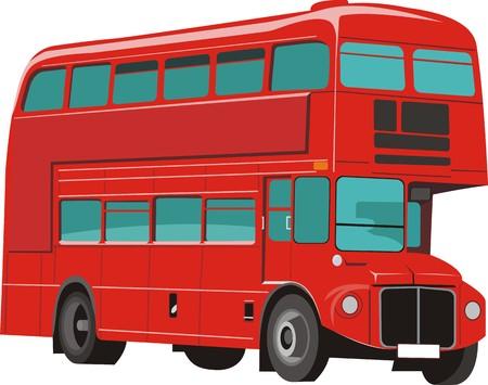 doubledecker: Red double-decker bus