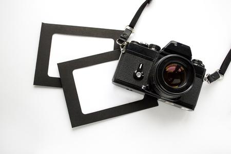 Cornice per foto per inserire un'immagine con la fotocamera Archivio Fotografico - 85702921