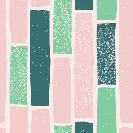 Scandinavian seamless pattern with pastel geometric shape. Stamp textured background in nordic style. Vector illustration for print, design, fabric.