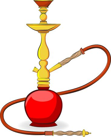 Hookah Icon Vector Colored Illustration. Vibrant colors.