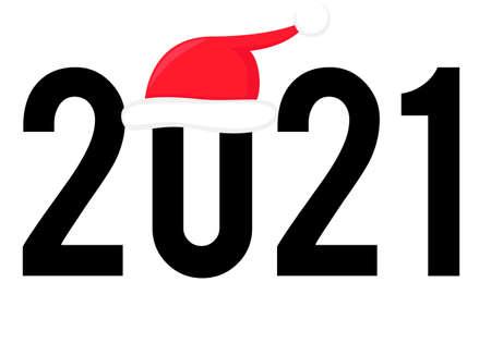 Happy New Year 2021.2021 with a covid icon. Coronavirus in 2021. Covid-19 coronavirus on 2021. Covid Christmas. Vecto flat illustration.