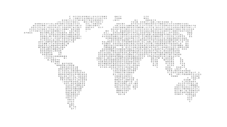 Abstract world map with letters of english alphabet vector black color world map isolated on white background abstract flat template with letters for web gumiabroncs Choice Image