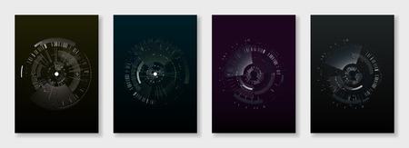 A Minimal brochure templates. elements on dark background.