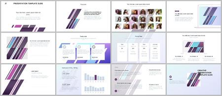 Minimal presentations, portfolio templates. Simple elements on white background. Brochure cover vector design. Presentation slides for flyer, leaflet, brochure, report, marketing, advertising. Illustration
