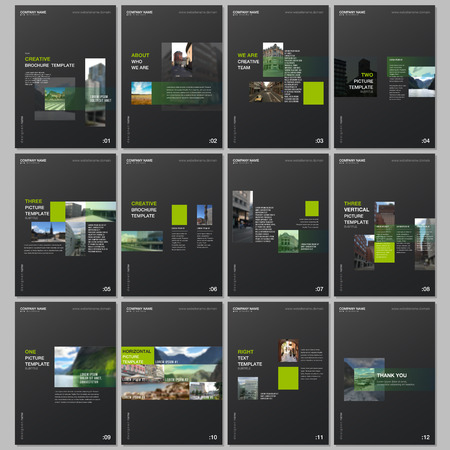 Creative brochure templates with colorful gradient design geometric trending elements. Covers design templates for flyer, leaflet, brochure, report, presentation, advertising, magazine