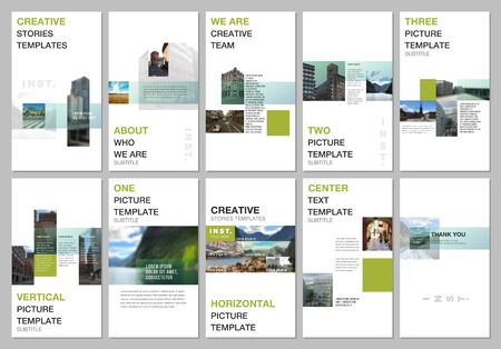 Creative social networks stories design, vertical banner or flyer templates with colorful gradient design geometric trending elements. Covers design templates for flyer, leaflet, brochure, presentation