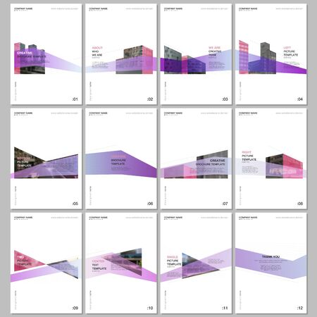 Creative brochure templates with architecture design. Abstract modern architectural background. Covers design templates for flyer, leaflet, brochure, report, presentation, advertising, magazine
