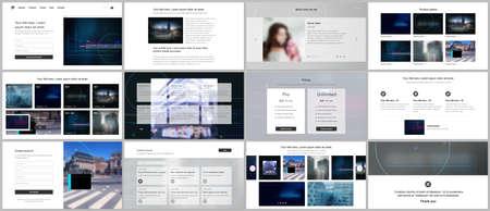 Vector templates for website design, presentations, portfolio. Templates for trendy technology design modern electro music presentation slides, flyer, leaflet, brochure cover, annual report.