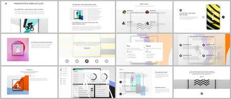 Vector templates for website design, presentations, portfolio. Templates for presentation slides, leaflet, brochure cover, report. Abstract colored sport backgrounds for sport event, fitness design. Vektoros illusztráció