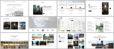 Vector templates for website design, presentations, portfolio. Templates for presentation slides, flyer, leaflet, brochure, report. Background template with lines, photo place for business design.