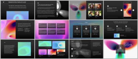 Vector templates for website design, presentations, portfolio. Templates for presentation slides, flyer, leaflet, annual report. Medical design with bright colored gradient pattern in form of cells.
