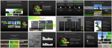 Vector templates for website design, presentations, portfolio. Templates for presentation slides, flyer, leaflet, brochure cover, report. Modern corporate business identity style for any purposes.