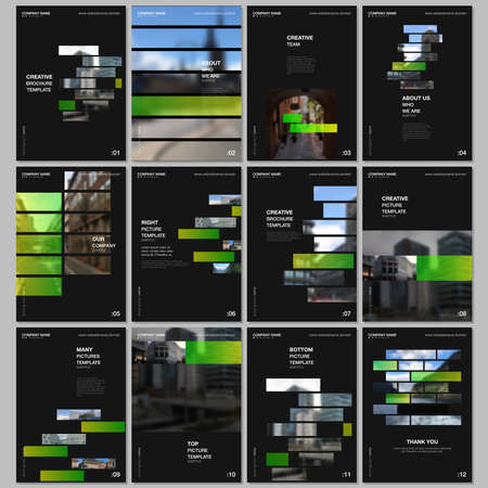 A4 brochure layout of covers templates for flyer leaflet, A4 brochure design, report, presentation, magazine cover, book design. Modern corporate identity style for any purposes. Business template. Иллюстрация
