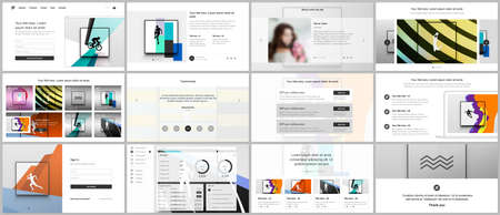 Vector templates for website design, presentations, portfolio. Templates for presentation slides, leaflet, brochure cover, report. Abstract colored sport backgrounds for sport event, fitness design.