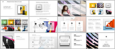 Vector templates for website design, presentations, portfolio. Templates for presentation slides, leaflet, brochure cover, report. Abstract colored sport backgrounds for sport event, fitness design. Иллюстрация