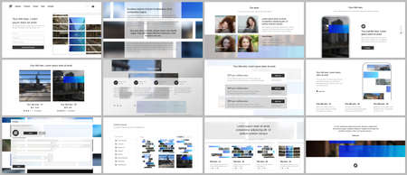 Vector templates for website design, presentations, portfolio. Templates for presentation slides, flyer, leaflet, brochure cover. Corporate business identity style for any purposes. Business template. Foto de archivo