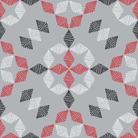 Hand drawn ornament pattern. Vector geometric tracery seamless background. Illusztráció