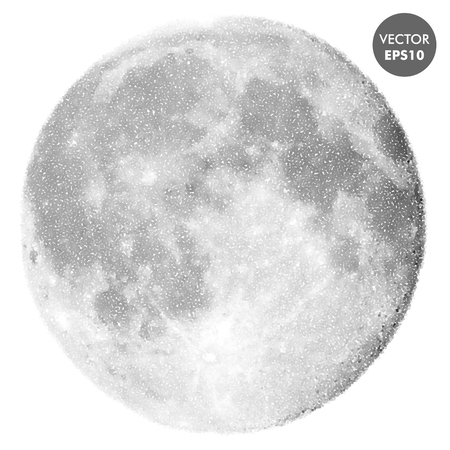 Moon vector illustration. Space abstract spotted texture.