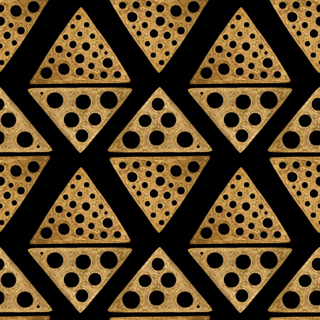 abstract paintings: Hand drawn seamless pattern. Gold ethnic ornament, abstract geometric background.
