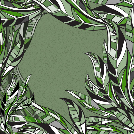 seson: Leaves hand drawn seamless pattern. Vector nature leaf illustration.