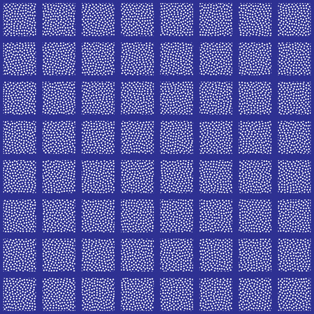 Dotted squares vector seamless pattern. Abstract dots cell modern texture for for surface designs, textiles, wrapping paper, wallpapers, phone case prints, fabrics. Vectores