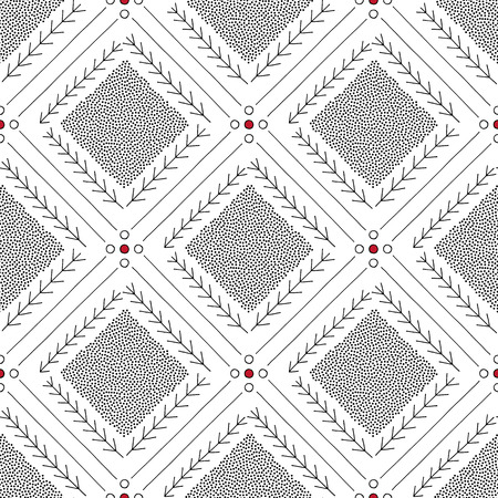 Hand drawn abstract seamless pattern. Geometrical minimalistic background in Scandinavian style. Elegant texture for surface designs, textiles, wrapping papers, wallpapers, phone case prints, fabrics.