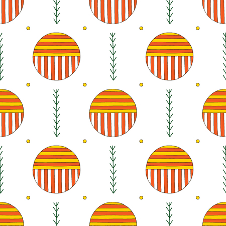 Hand drawn abstract seamless pattern. Vector colorful background in modern style. Striped funny texture for surface designs, textiles, wrapping papers, wallpapers, phone case prints, fabrics.