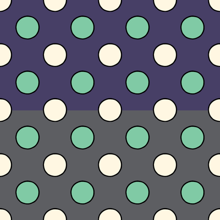 Hand drawn polka dots vector seamless pattern. Colorful dotted texture in modern style. Stylish fashionable texture for surface design, textile, wrapping paper, wallpaper, phone case print, fabric