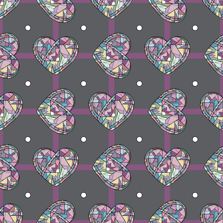 Hearts hand drawn vector seamless pattern. Valentines day holiday background. Love texture for surface design, textile, wrapping paper, wallpaper, phone case print, fabric.